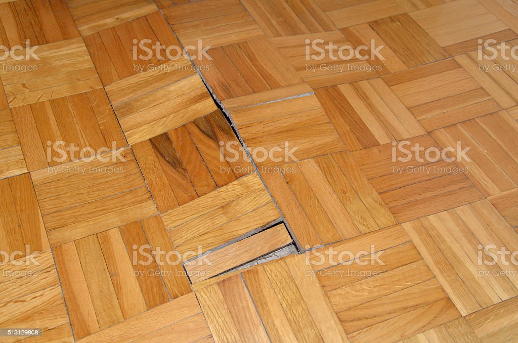 Parquet in Apartment stock photo