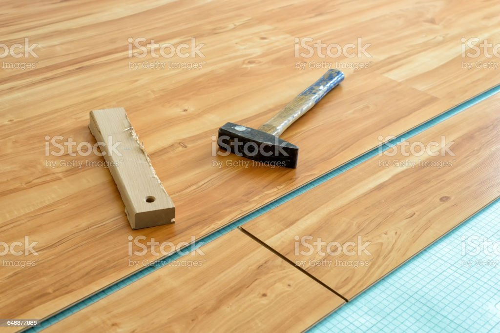 parquet laying stock photo