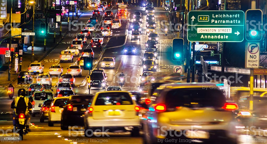 Parramatta Road stock photo