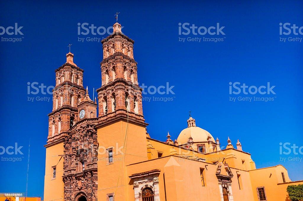 Parroquia Cathedral Dolores Hidalalgo Mexico stock photo