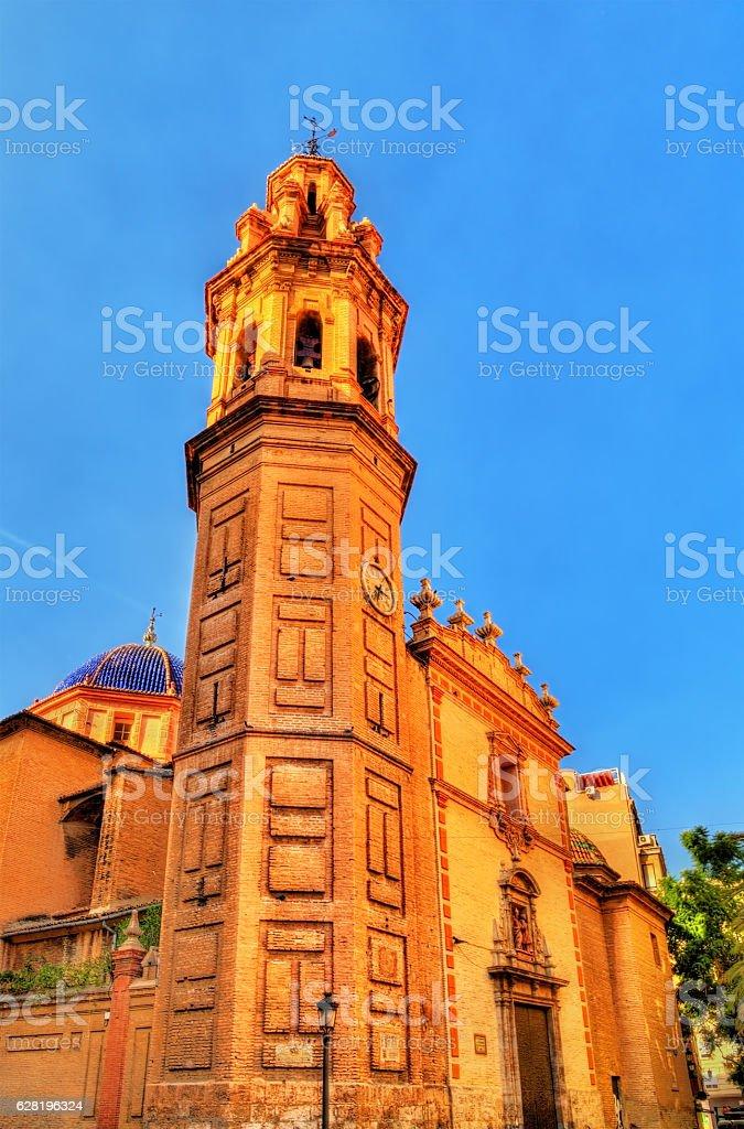 Parroquia de San Valero, a church in Valencia, Spain stock photo