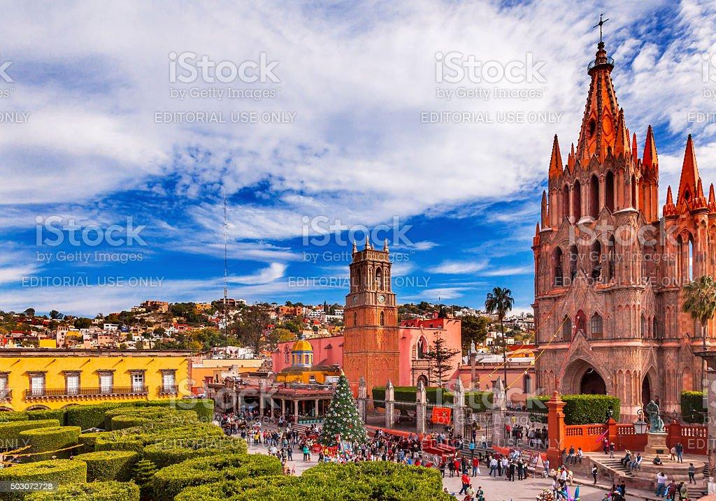 Parroquia Jardin Archangel Church San Miguel de Allende Mexico stock photo