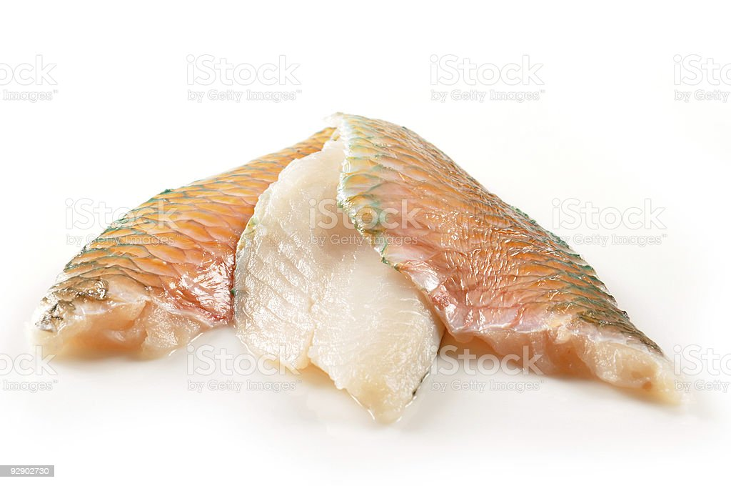 Parrotfishes fillet stock photo