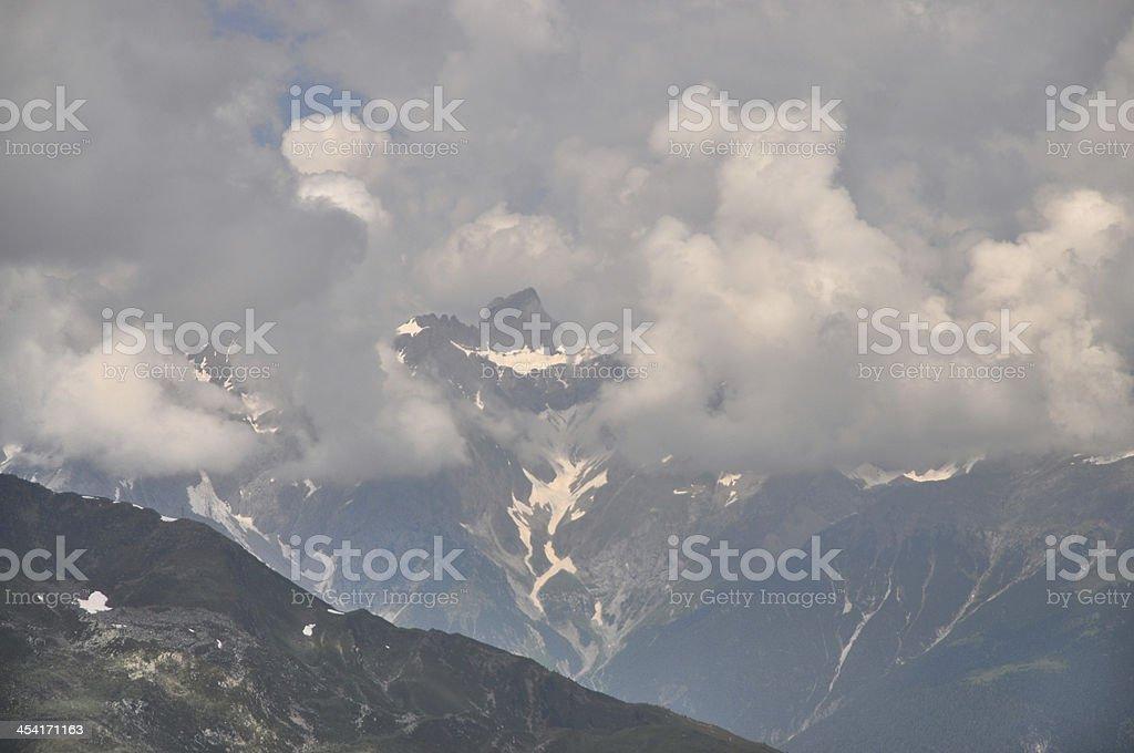 Parseierpsitze, a mountain in Austria stock photo