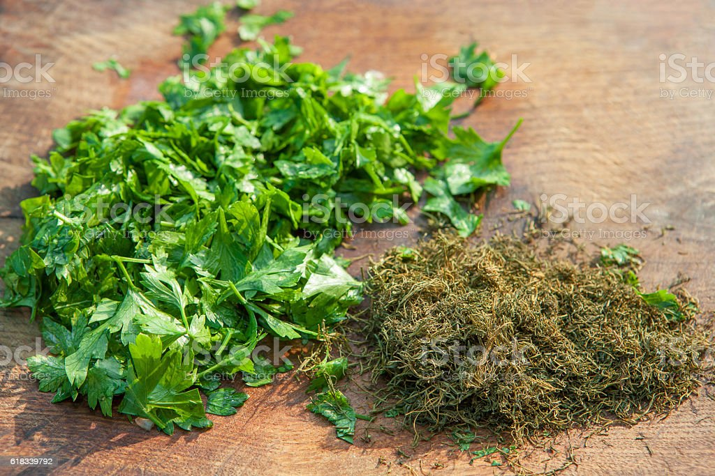parsley and dill stock photo