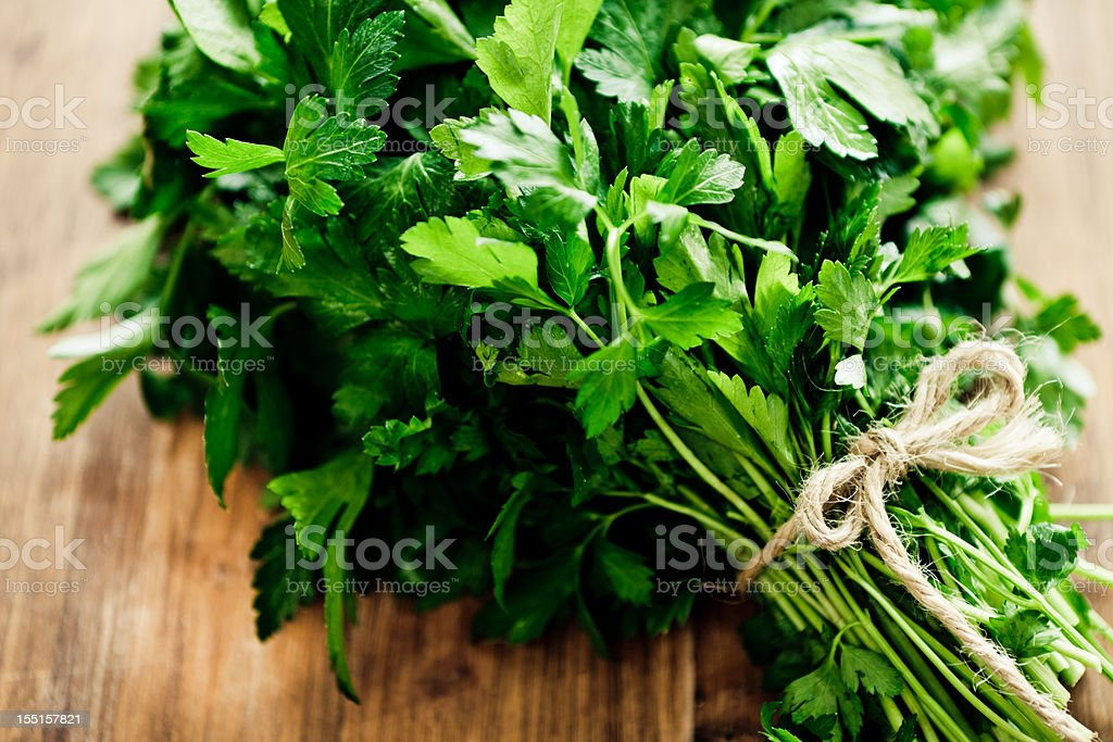 Parsley Bouquet stock photo
