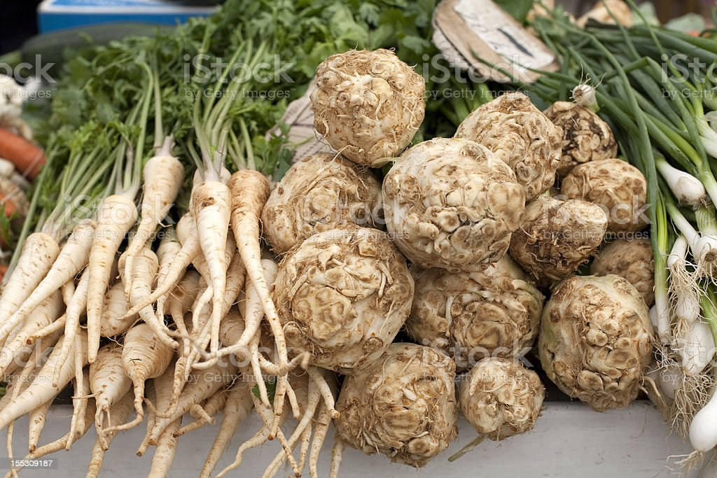 Parsley, kohlrabi and young onions royalty-free stock photo
