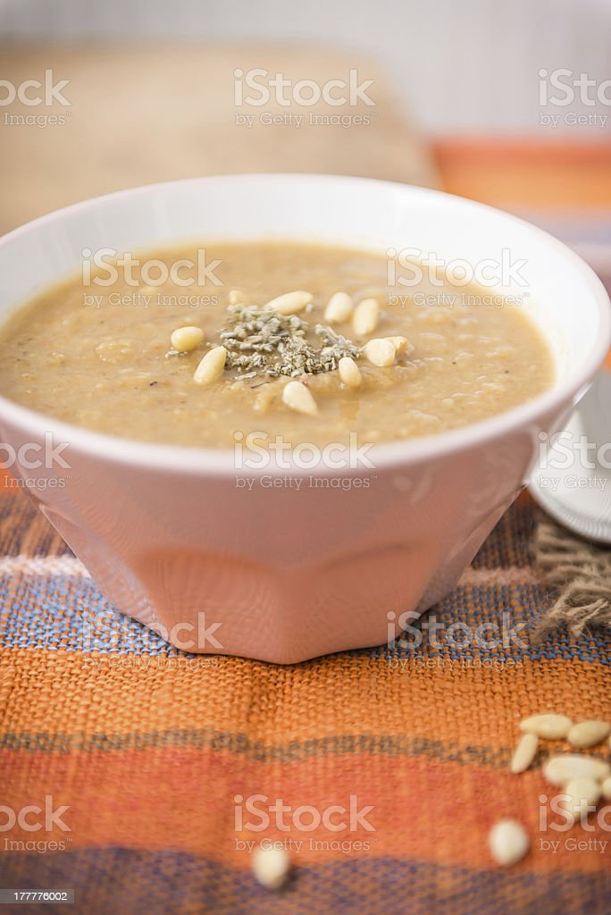 Parsnip Cream Soup royalty-free stock photo