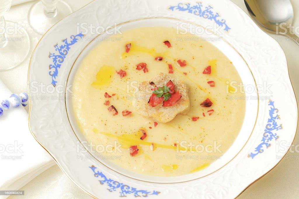 Parsnip soup royalty-free stock photo