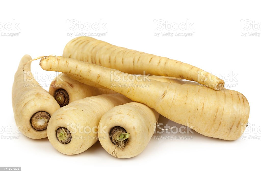 Parsnips Isolated on White stock photo
