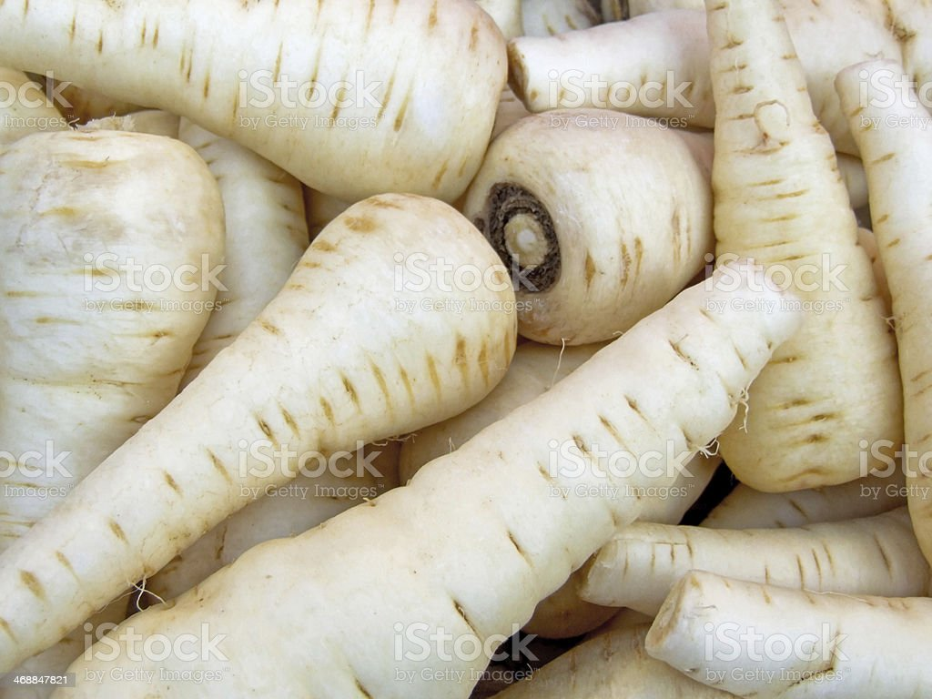 Parsnips stock photo