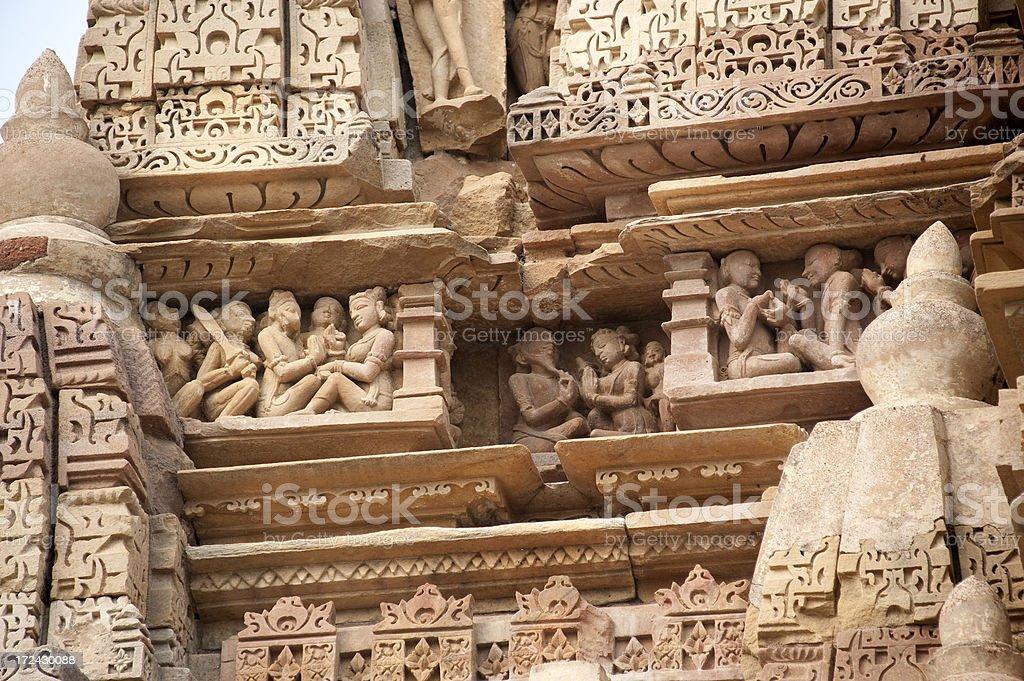 Parsvanath Jain Temple in Khajuraho stock photo