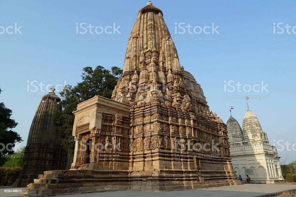 Parsvanath Temple, Temples south east, Khajuraho, India stock photo