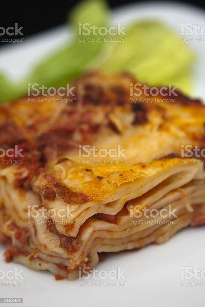 Part de lasagne royalty-free stock photo