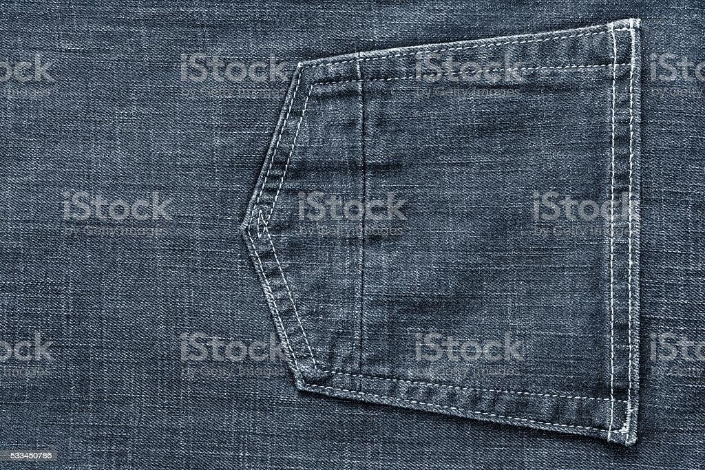 part jeans clothes with a pocket of pale color stock photo
