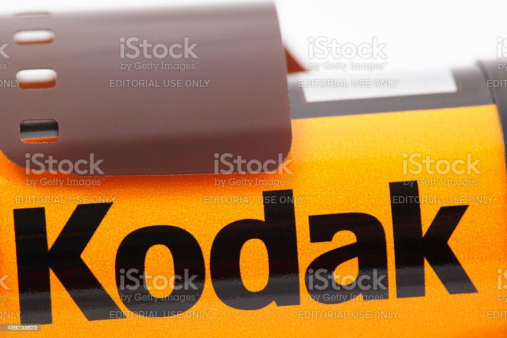 Part of 35mm Kodak Camera Film royalty-free stock photo