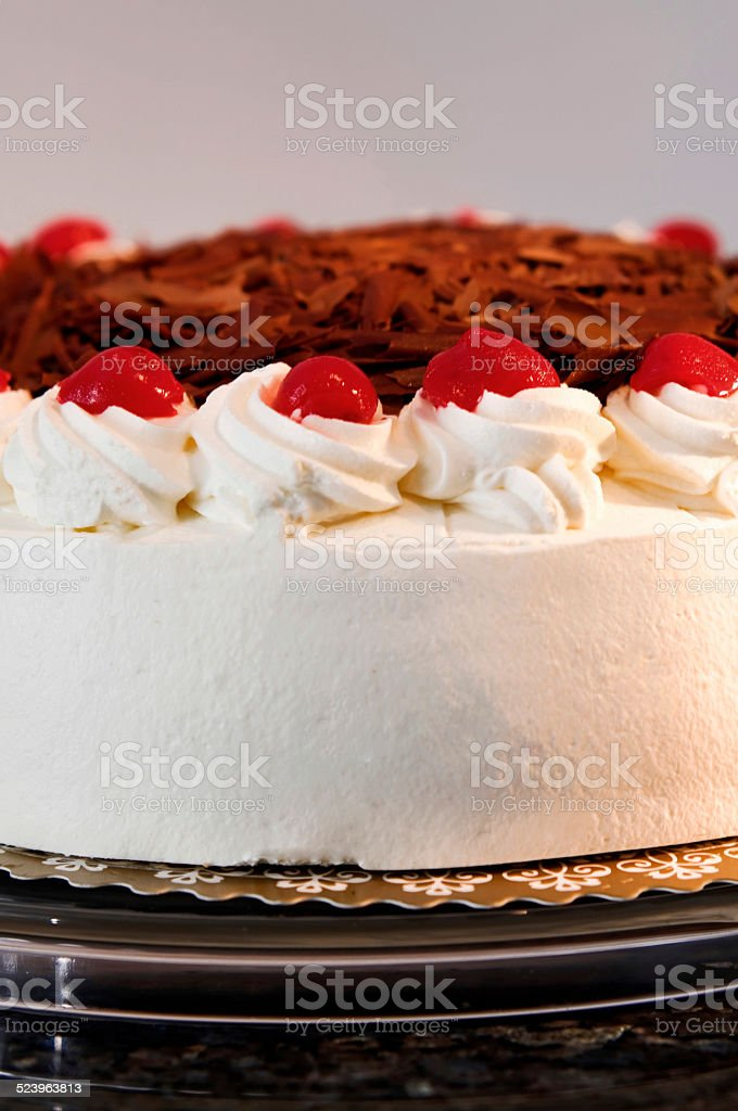 Part of a Black Forest gateau stock photo