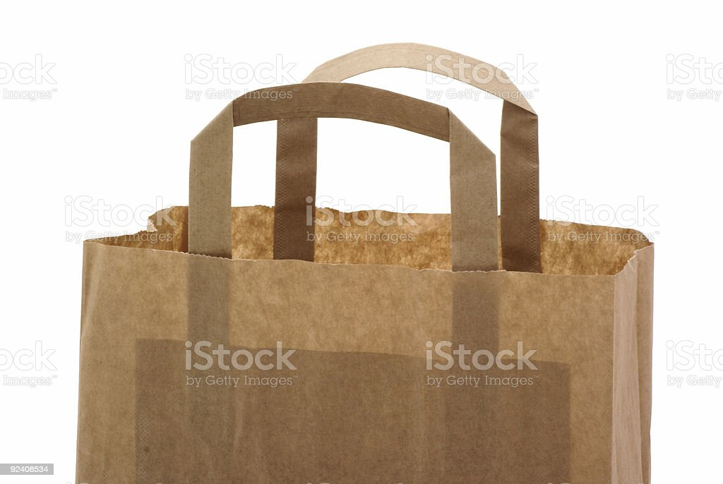 Part of a brown paper bag. royalty-free stock photo