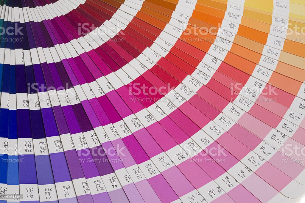 part of a color guide stock photo