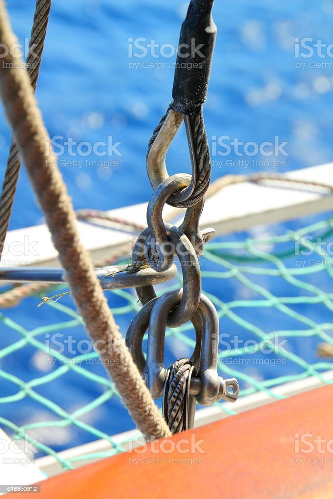 part of a cruise ship chain stock photo