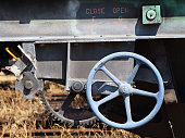 Part of a freight railway carriage