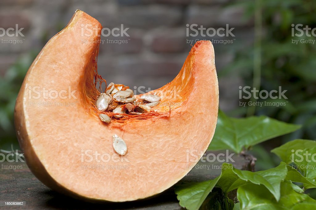 Part of a Pumpkin stock photo