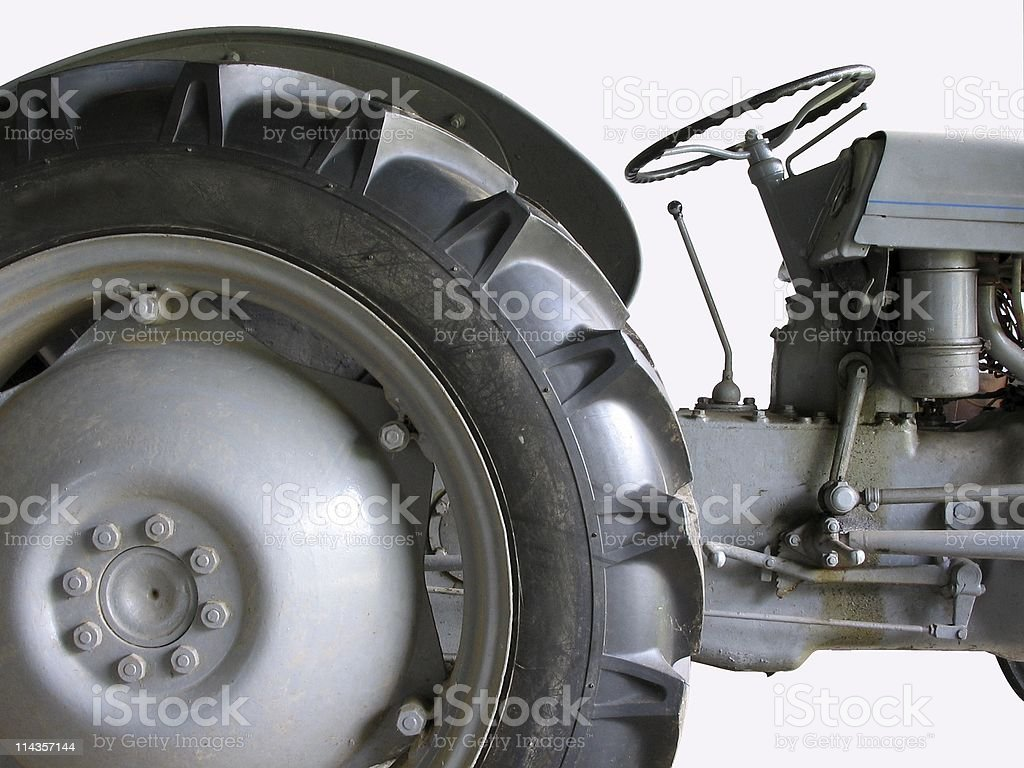 Part Of An Old 1950s Grey Tractor royalty-free stock photo