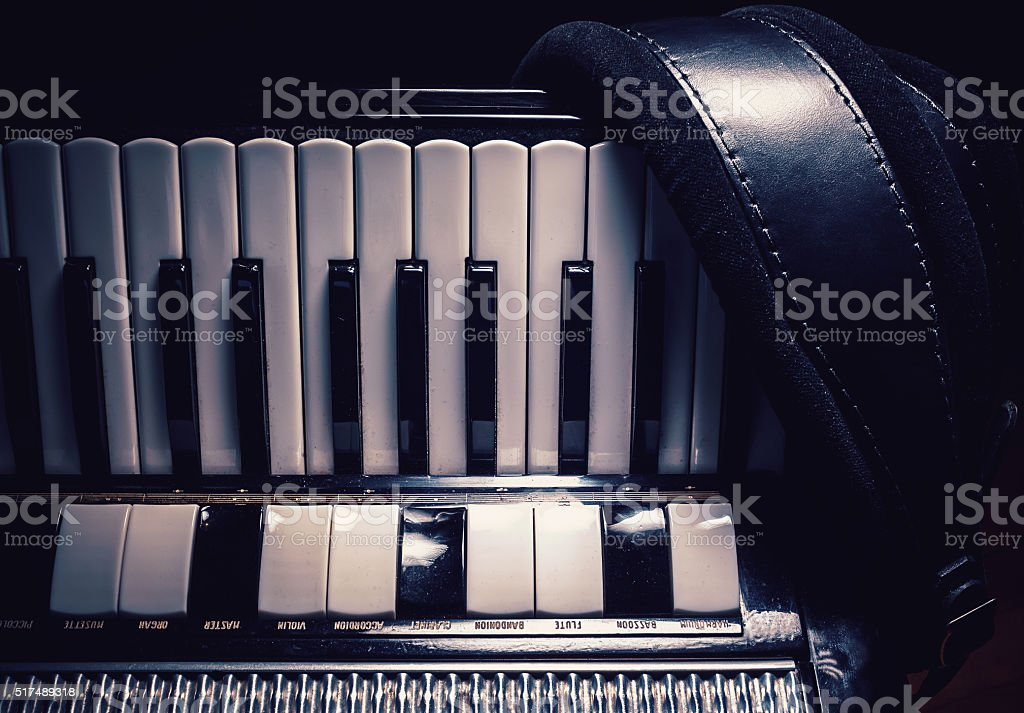Part of an Old Accordion stock photo
