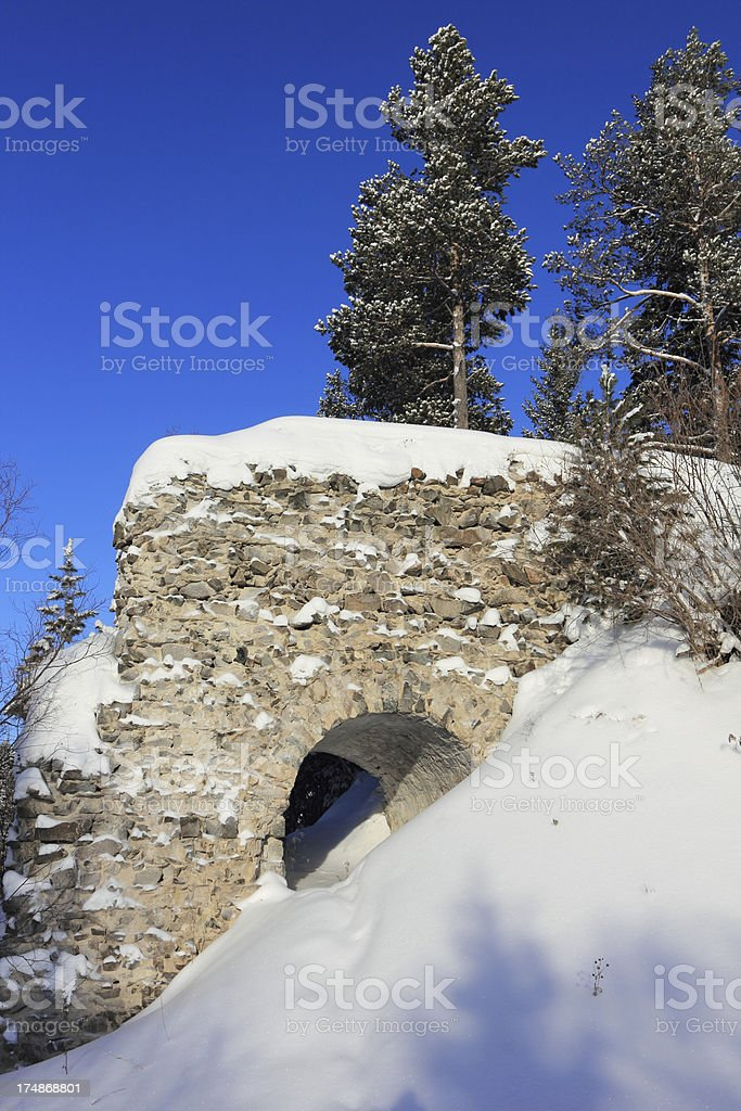 Part of an old bridge royalty-free stock photo
