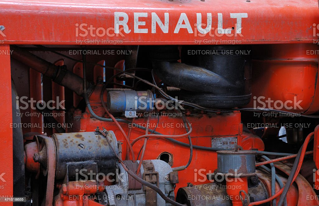 Part of an old Renault tractor royalty-free stock photo