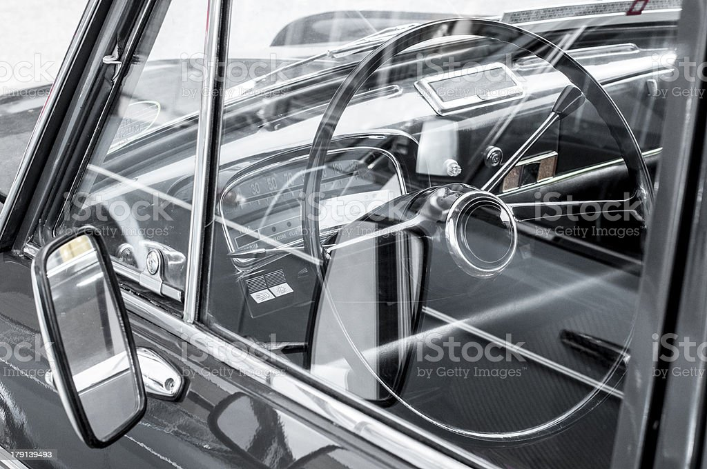 part of an old vintage car royalty-free stock photo