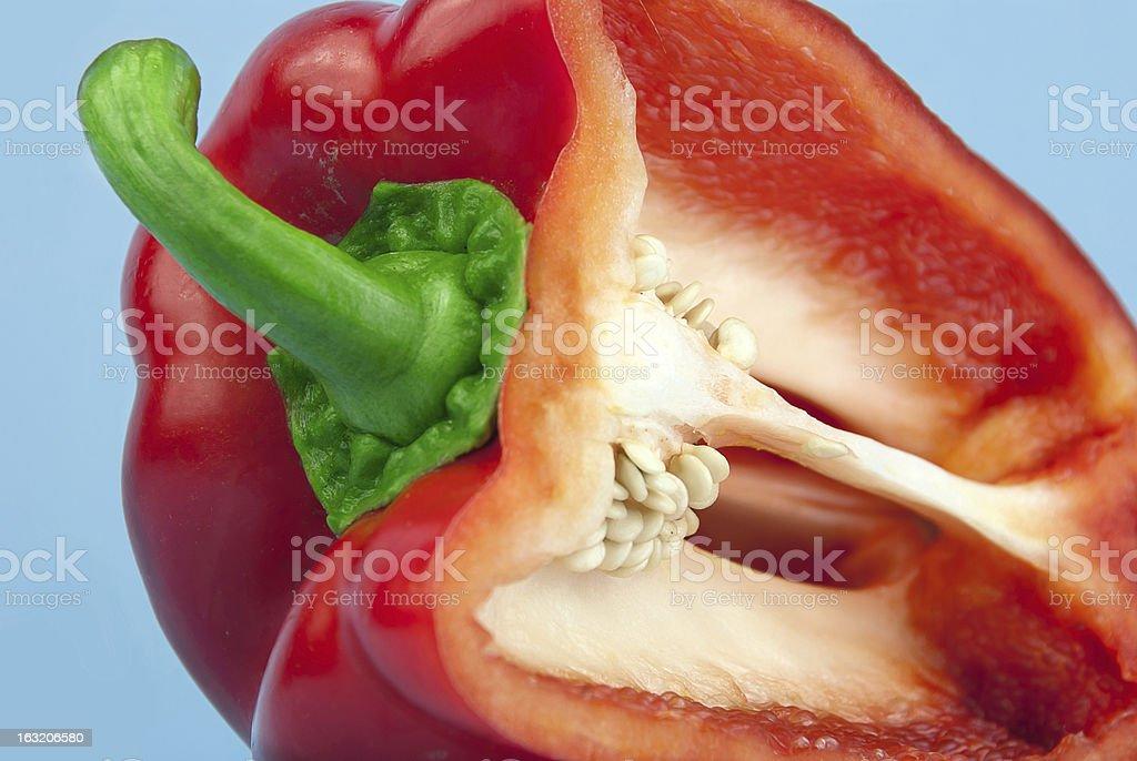 part of appetizing paprika stock photo
