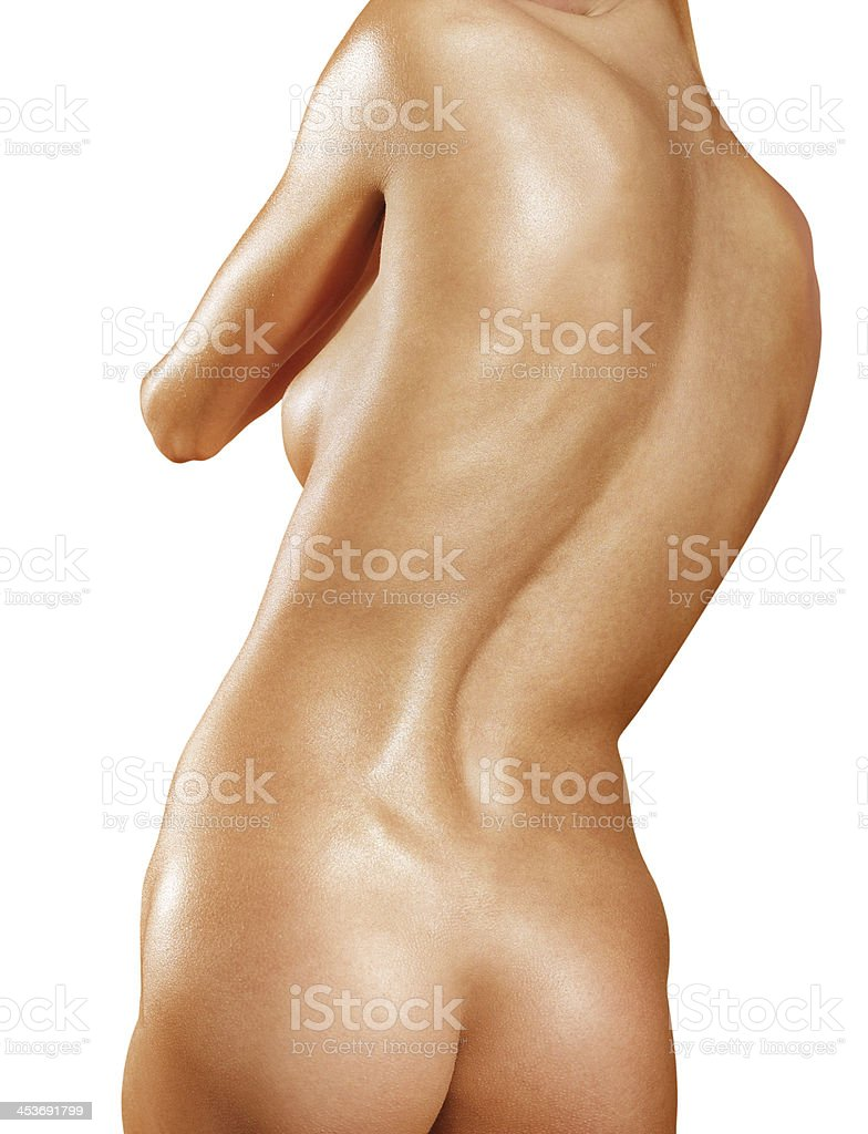 part of back with scoliosis royalty-free stock photo
