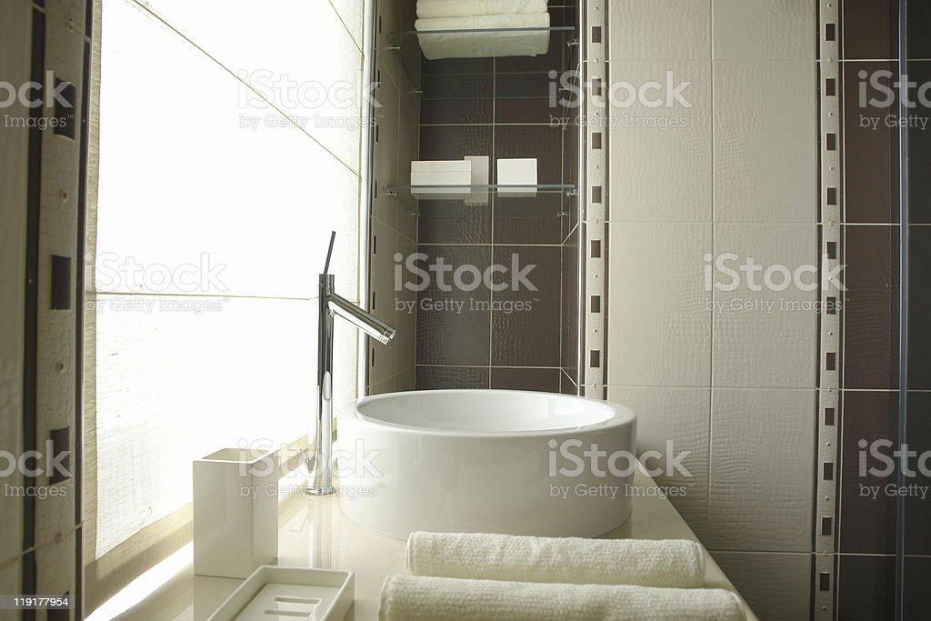 part of bathroom stock photo