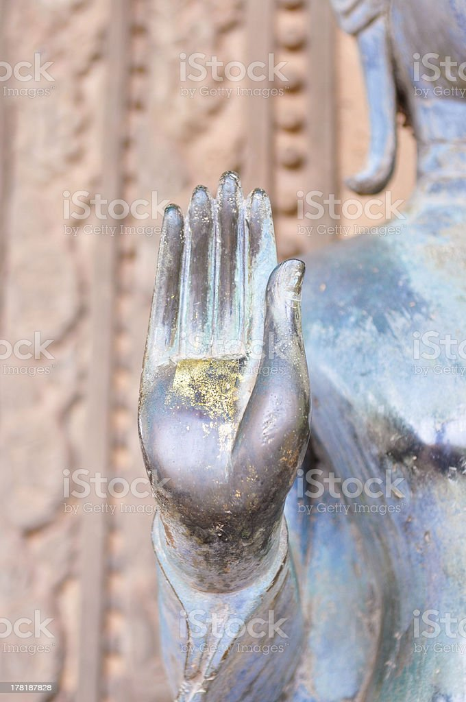Part of buddha hand royalty-free stock photo