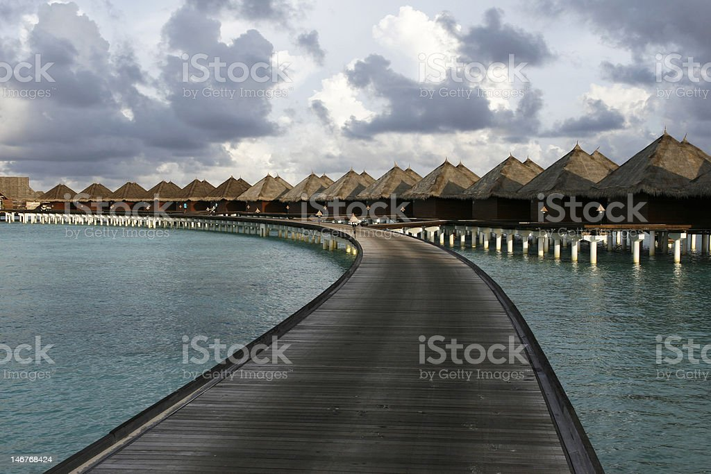 Part of Bungalows In Round royalty-free stock photo