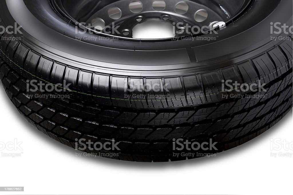 Part of car tire royalty-free stock photo