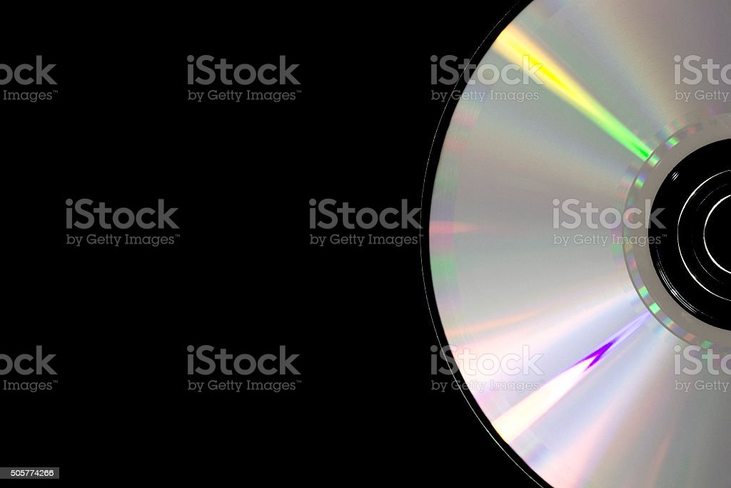Part of cd disk stock photo