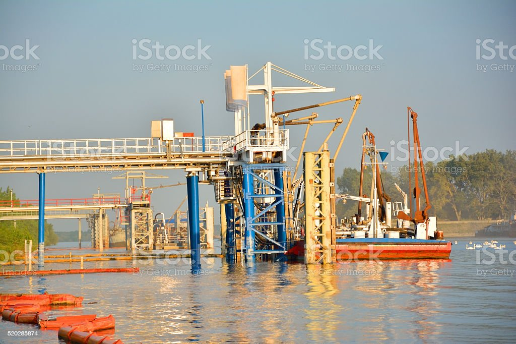 Part of Chemical Complex stock photo