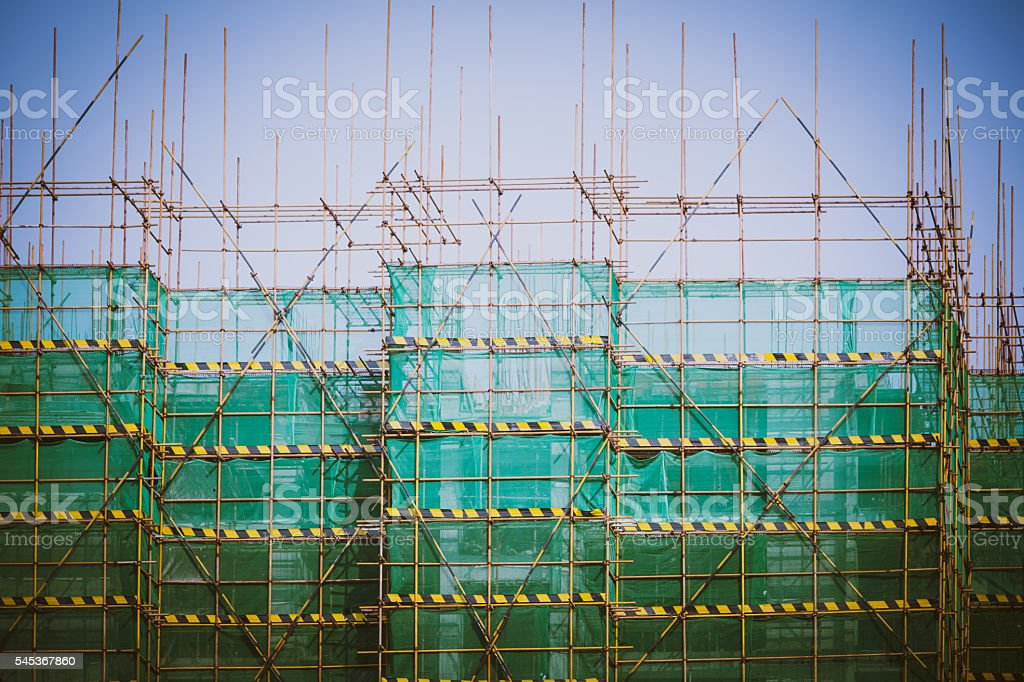 Part of construciton site stock photo