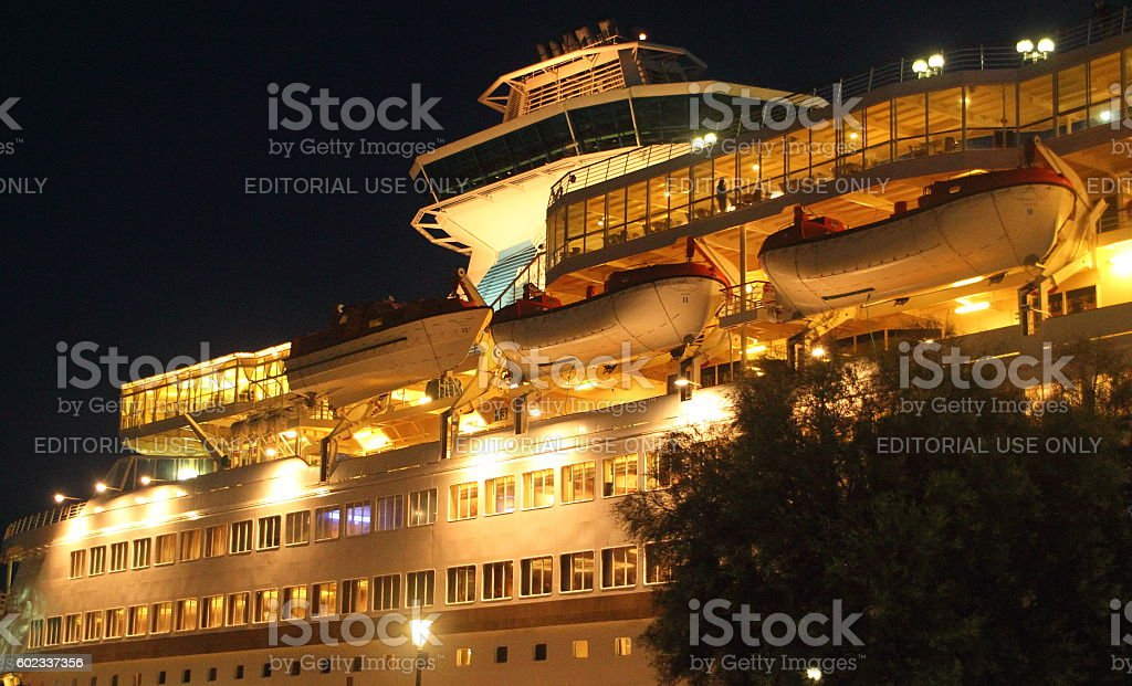 part of cruise ship stock photo