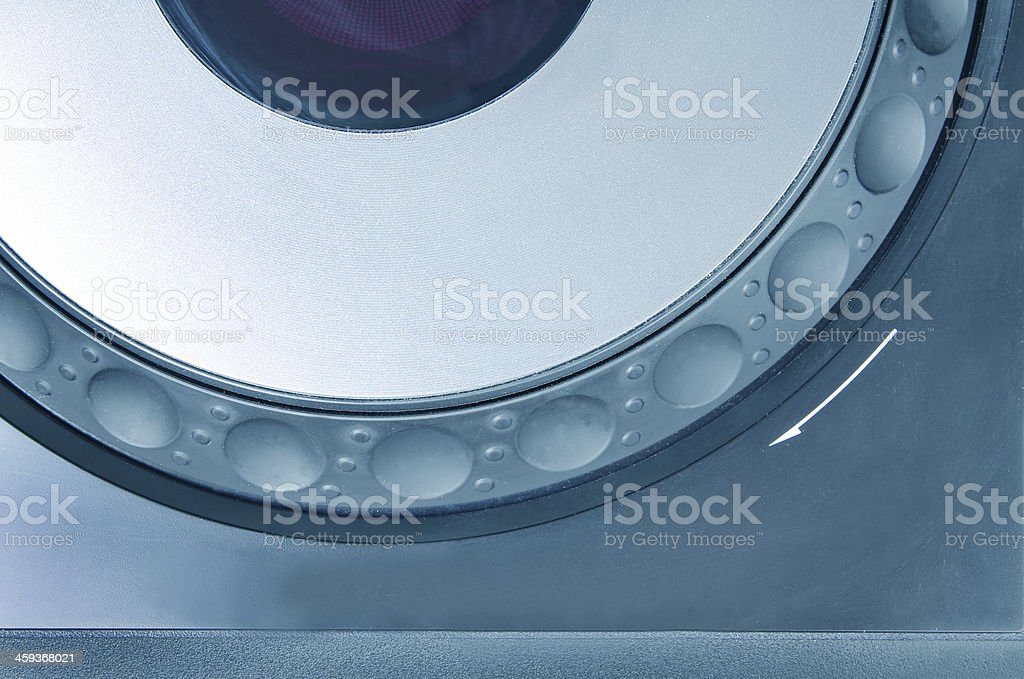 Part of dj cd player stock photo