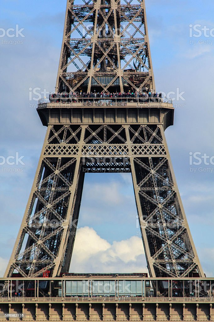 part of Eifel tower royalty-free stock photo