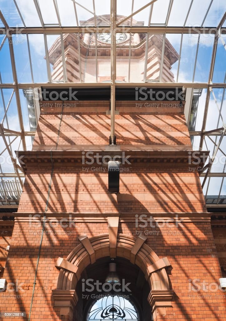 Part of  Entrance at Nottingham Central  Station stock photo