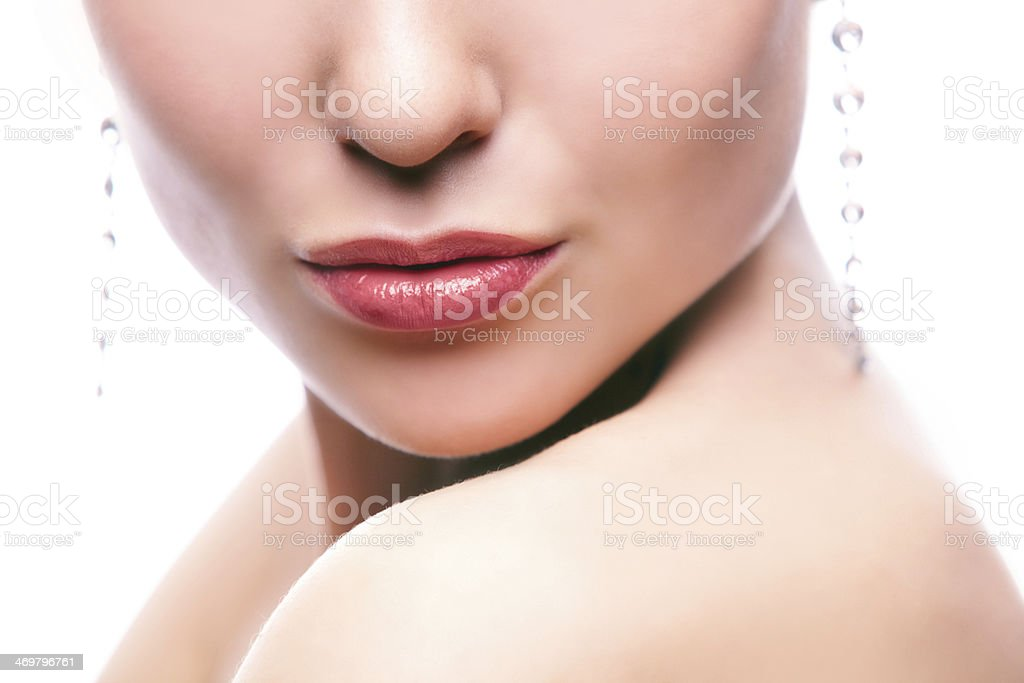 Part of face stock photo
