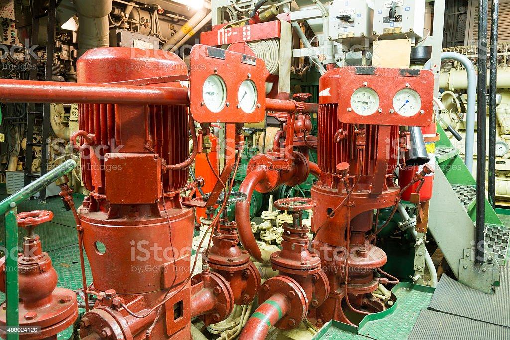 part of fire sprinkler system stock photo