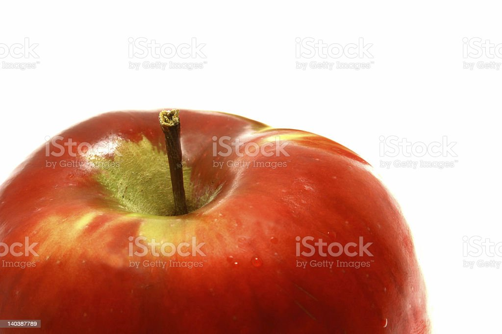 Part of fresh apple royalty-free stock photo