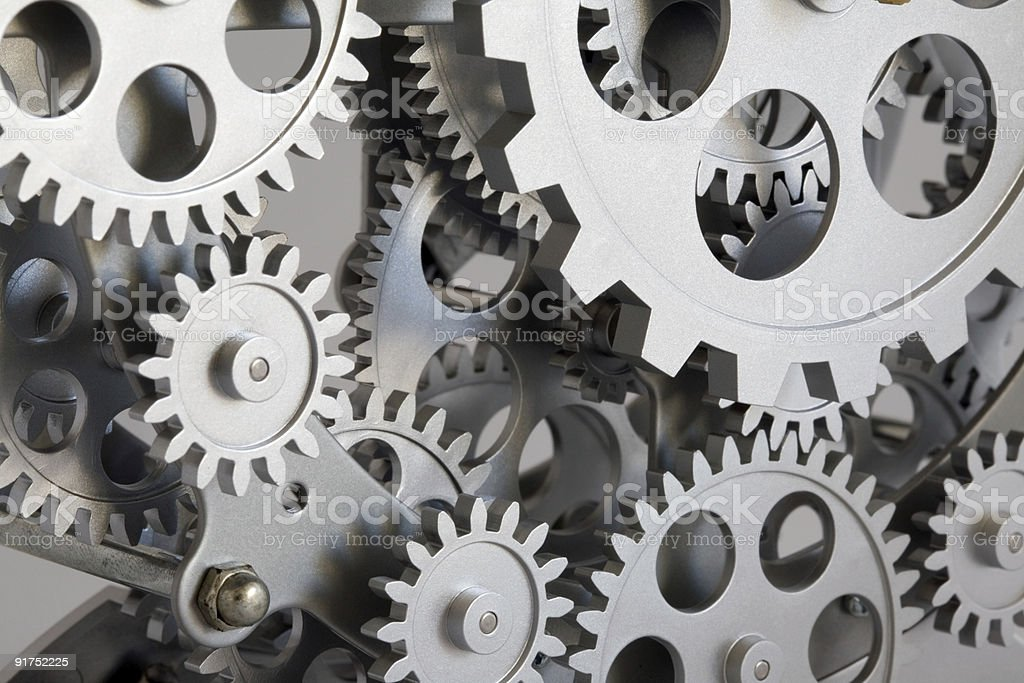 Part of gears. stock photo