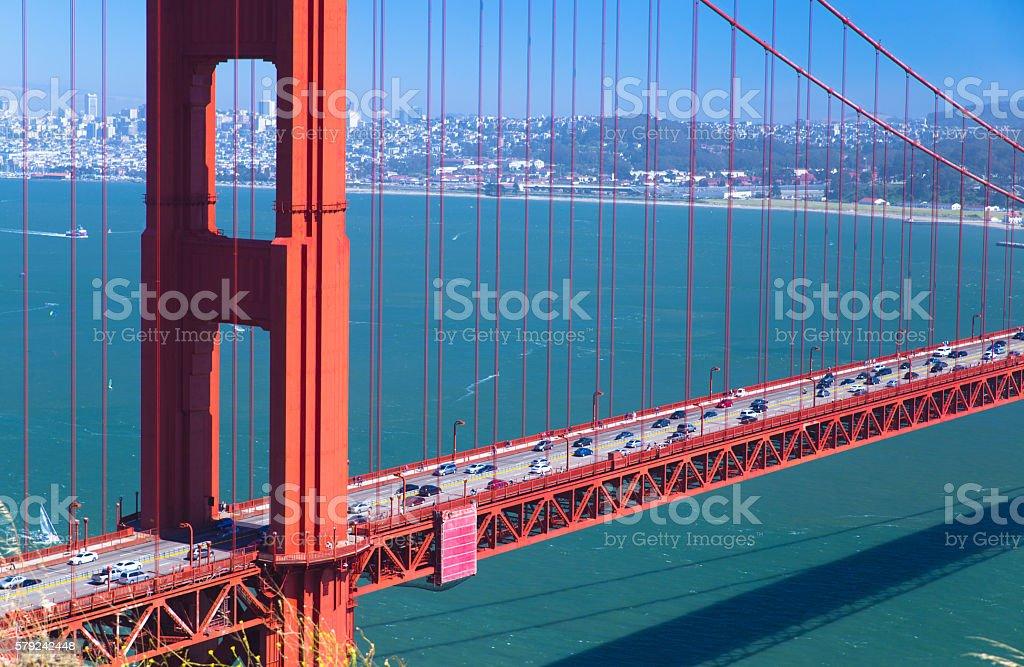 part of Golden Gate Bridge, transpotation stock photo