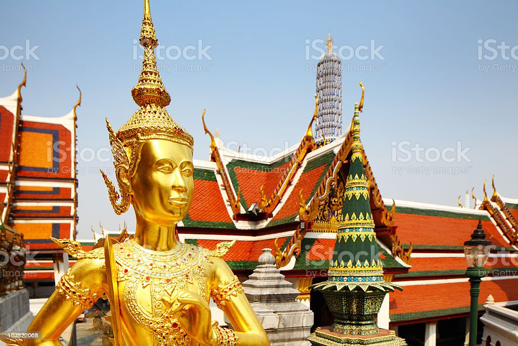 Part of Grand Palace in Thailand royalty-free stock photo